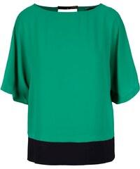 Zelená halenka s černým lemem Dorothy Perkins