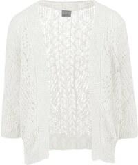 Bílý tříčtvrteční cardigan Vero Moda Mally