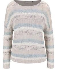 Modro-krémový pruhovaný svetr ONLY Micca