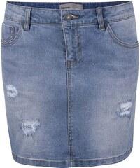 Světle modrá džínová sukně s potrhaným efektem Vero Moda Be Lea