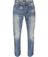 Světle modré comfort fit džíny se sepraným efektem Jack & Jones Mike
