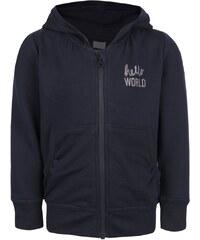 Tmavě modrá holčičí mikina na zip s kapucí name it Kayla