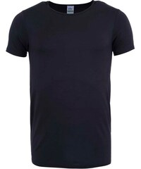 Černé bambusové triko pod košili Bambutik Slim