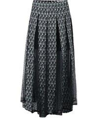 Zeleno-černá sukně se vzorem LYDC
