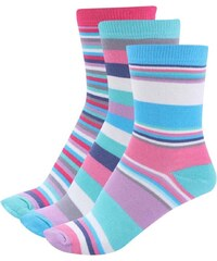 Sada tří barevných dámských pruhovaných ponožek Oddsocks Megan
