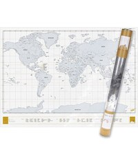 Velká stírací mapa světa Luckies Clear Edition