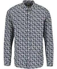 Krémovo-modrá vzorovaná košile Selected One Bob