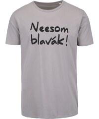 Světle šedé pánské triko s potiskem ZOOT Originál Neesom blavák!