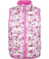 Krémovo-růžová holčičí vesta s květy Tom Joule Croft