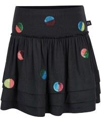 Tmavě šedá holčičí sukně s flitrovými puntíky Bóboli