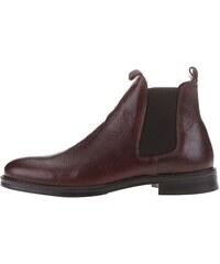 Hnědé kožené chelsea boty Selected