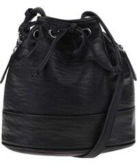 Černá stahovací kabelka Pieces Tessa