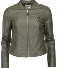 Tmavě zelená koženková bunda Vero Moda Irina