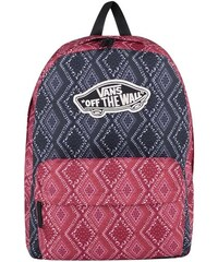 Modro-červený dámský vzorovaný batoh Vans Bandana Chili