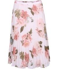 Krémová květovaná midi sukně Miss Selfridge