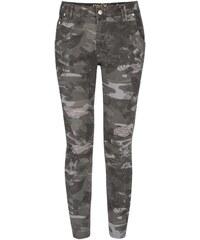 Zelené maskáčové džíny ONLY Zadie
