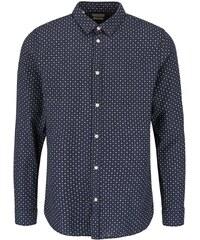 Tmavě modrá vzorovaná košile Selected Honechuckle