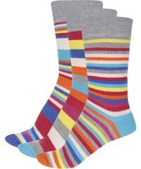 Sada tří pánských barevných ponožek s pruhy Oddsocks Will