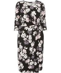 Dorothy Perkins Curve Černé šaty s barevnými květy Dorothy Perkins