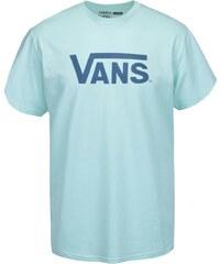 Mentolové pánské triko s potiskem Vans Classic