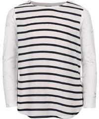 Krémové holčičí pruhované tričko s dlouhým rukávem 5.10.15.
