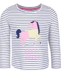 Krémové holčičí pruhované tričko s nášivkou koně Tom Joule Ava
