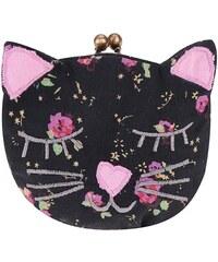 Černá peněženka ve tvaru kočičky Sass & Belle Phoebe