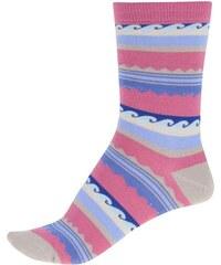 Růžové dámské bambusové ponožky se vzory Braintree Surfer