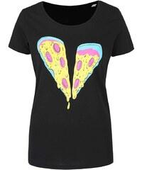 Černé dámské tričko ZOOT Originál Pizza