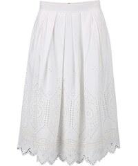Krémová sukně s krajkovaným vzorem French Connection Josephine