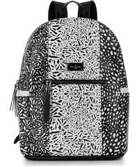 Černo-bílý vzorovaný batoh Paul's Boutique Rosa