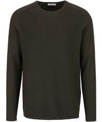 Khaki svetr Selected Homme Bake