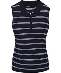 Tmavě modré pruhované tričko bez rukávů Dorothy Perkins