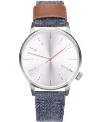 Unisex hodinky s denimovým řemínkem Komono Winston Heritage