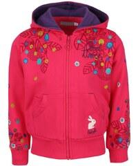 Růžová holčičí mikina s potiskem a králíčkem na kapse Bóboli