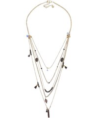 Kaskádovitý náhrdelník ve zlaté barvě Pieces Nuhana