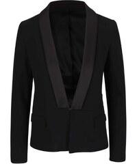 Černé sako s lesklými klopami KARL LAGERFELD