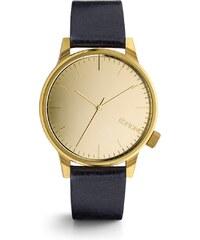Pánské hodinky ve zlaté barvě s tmavě modrým páskem Komono Winston Mirror