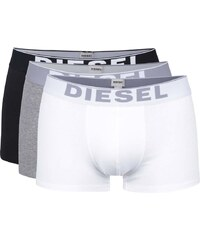 Sada tří boxerek s dlouhou nohavičkou v bílé, šedé a černé barvě Diesel