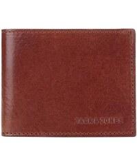 Hnědá kožená peněženka Jack & Jones Denim
