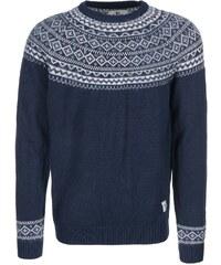 Tmavě modrý svetr s norským vzorem Bellfield Dalvik