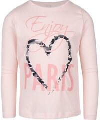 Světle růžové holčičí tričko s dlouhým rukávem name it Vix