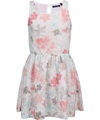 Krémové holčičí krajkové šaty s barevnými květinami Blue Seven