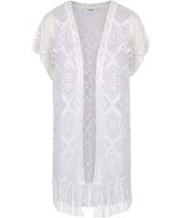 Krémová vesta s třásněmi Vero Moda Carla