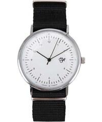 Černo-bílé unisex hodinky Cheapo Harold