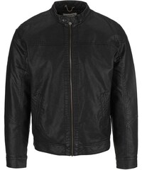 Černá koženková bunda Jack & Jones Insert