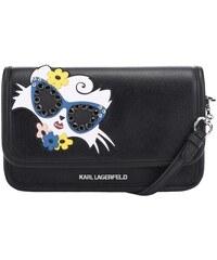 Černá crossbody kabelka s kočkou KARL LAGERFELD