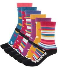 Sada šesti barevných dámských ponožek Oddsocks Mary
