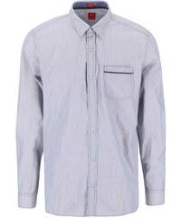 Modro-bílá pruhovaná regular fit košile s náprsní kapsou s.Oliver