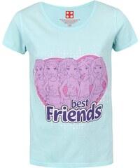 Mentolové holčičí tričko s potiskem LEGO Wear Best Friends
